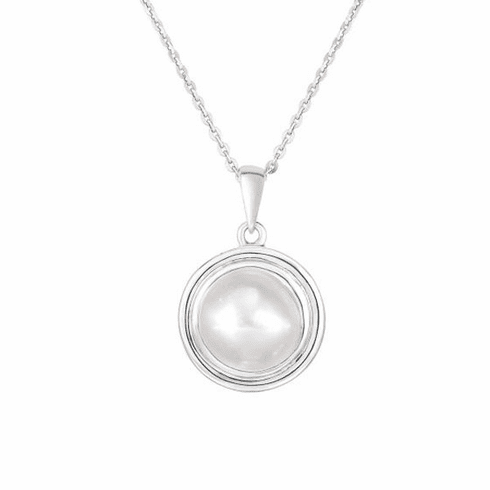 "Silver 17"" Rhodium Finish Necklace with Spring Ring Clasp -AGRC2992"