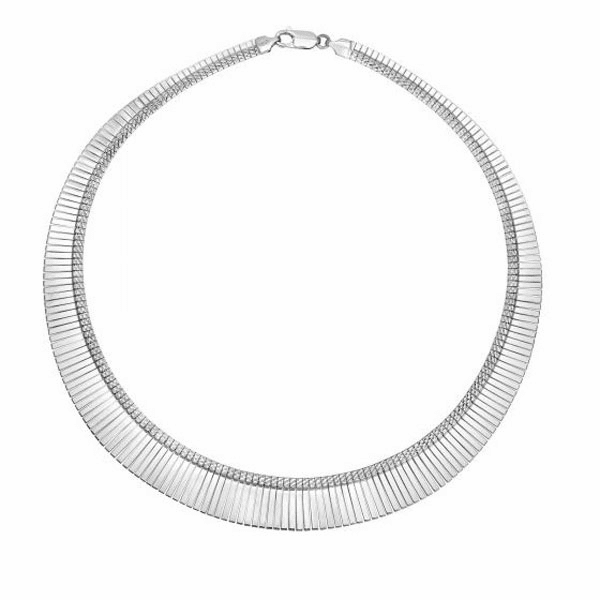 "Silver 17"" Rhodium Finish Teardrop Necklace - AGNCK1666"