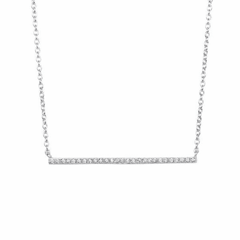 "Silver 18"" with Rhodium Finish Fancy Necklace - AGN3009"