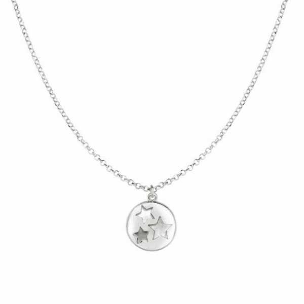 "Silver 18"" with Rhodium Finish Necklace with Lobster Clasp - AGRC2709"