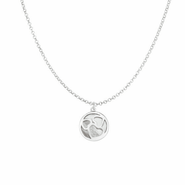 "Silver 18"" with Rhodium Finish Necklace with Lobster Clasp - AGRC2710"