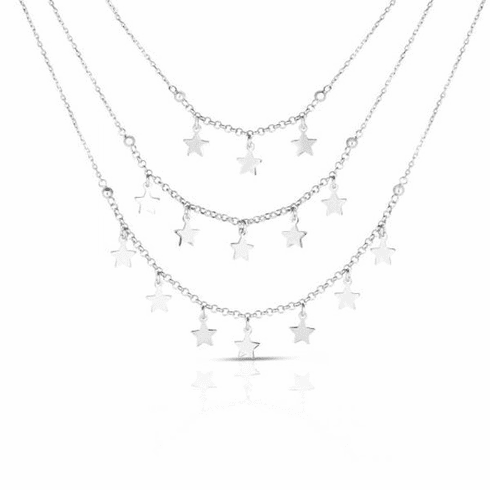"""Silver 18"""" with Rhodium Finish Necklace with Lobster Clasp - AGRC2716"""
