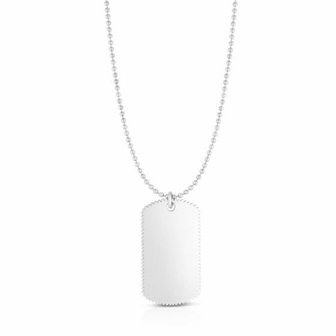 """Silver 24"""" with Rhodium Finish Necklace with Lobster Clasp - AGRC2577"""