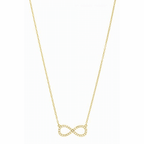 """Silver 7"""" Yellow Shiny Cable Chain CZ Necklace with Spring Ring Clasp"""