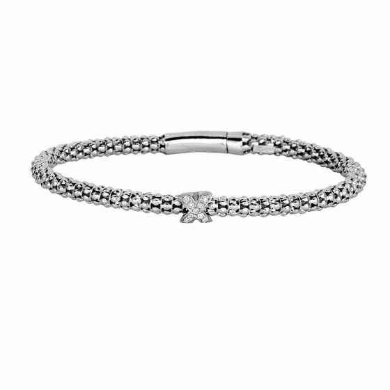 Silver Popcorn Bracelet Diamond inXin Element