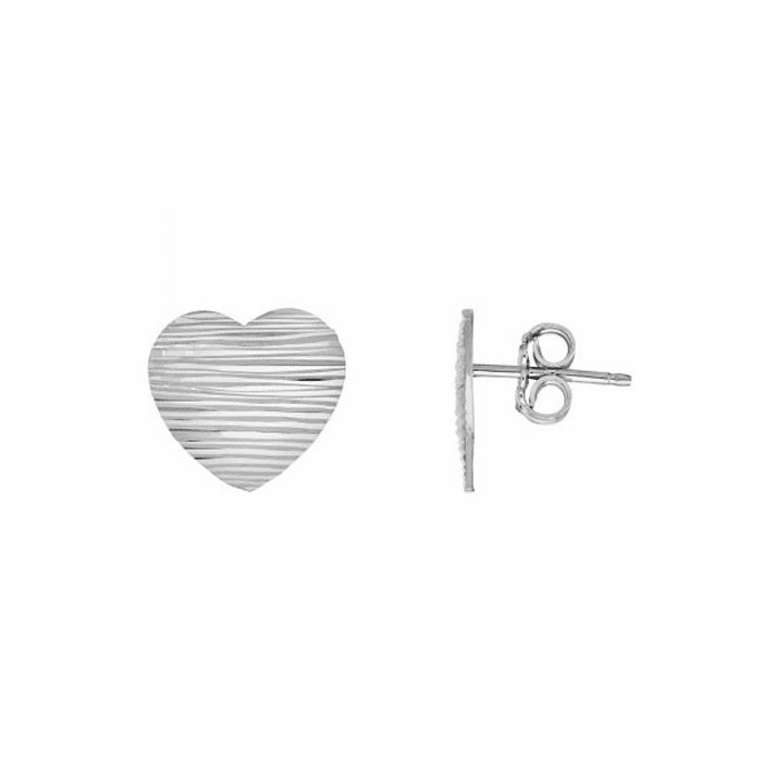 Silver Rhodium Finish 15mm Post Earring