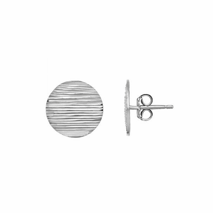 Silver Rhodium Finish 19mm Post Earring