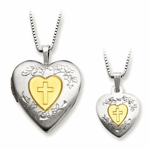 Silver Rhodium-plated Gold-plated Heart Locket