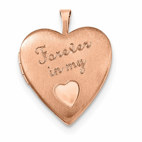 Silver Rose Gold-plated 20mm Forever In My Heart Locket