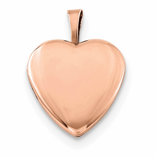 Silver Rose Gold-plated Satin And Polished 2-frame Heart Locket