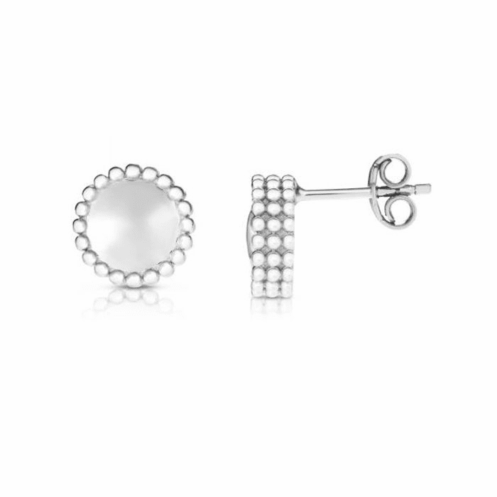 Silver with Rhodium Finish Earring with Push Back Clasp - AGER7897