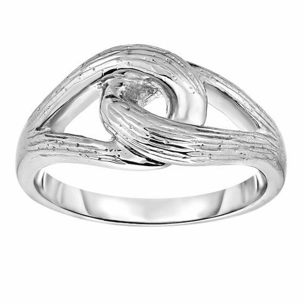 Silver with Rhodium Finish Fancy Ring - AGR1234