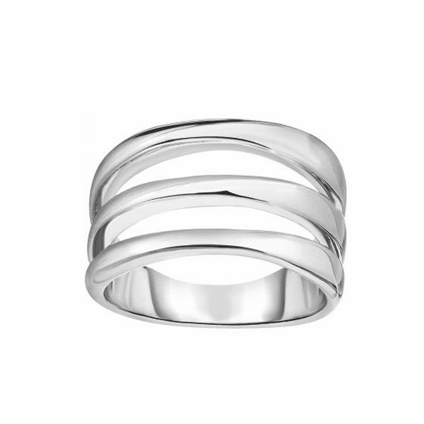 Silver with Rhodium Finish Fancy Ring - AGR6262