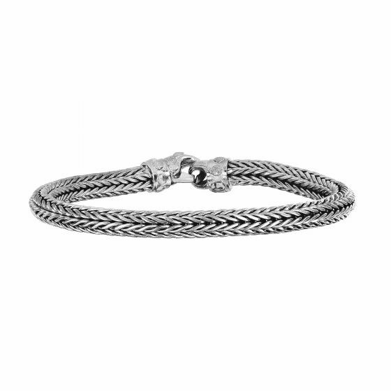 Silver Woven Bracelet with Lobster Clasp