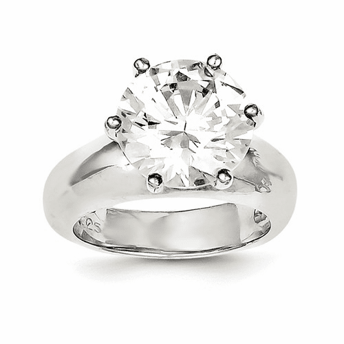 Solitaire Round CZ Rings