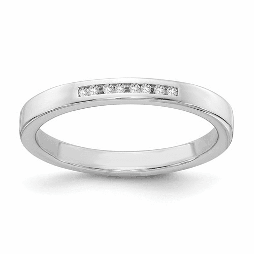 Ss White Ice .08ct. Diamond Ring Qw284-8