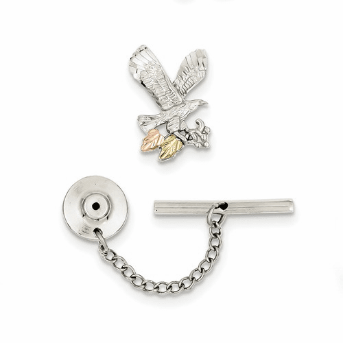 Sterling Silver & 12k Eagle Pin/tie Tack Qbh174