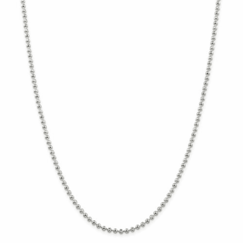 Sterling Silver 3mm Bead Anklet Qfc166-10