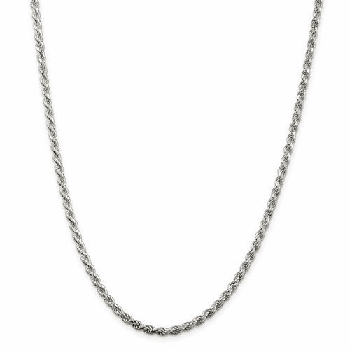 Sterling Silver 3mm Diamond-cut Rope Chain Qdc070-18