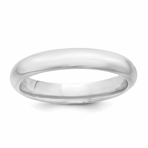 Sterling Silver 4mm Comfort Fit Band Qcf040-6.5