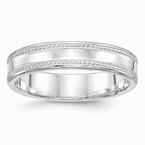 Sterling Silver 5mm Design Edge Band Qdeb050-10