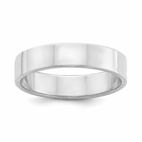 Sterling Silver 5mm Flat Band Qwfb050-10.5