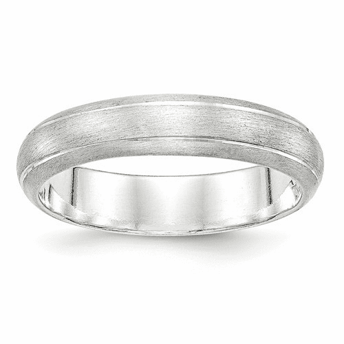 Sterling Silver 5mm Satin Finish Band Qsfb050-12