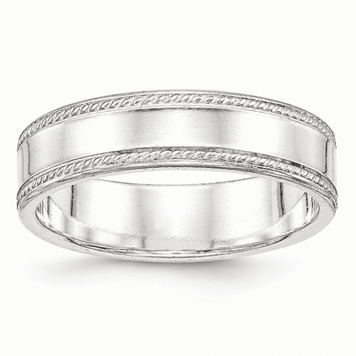 Sterling Silver 6mm Design Edge Band Qdeb060-10