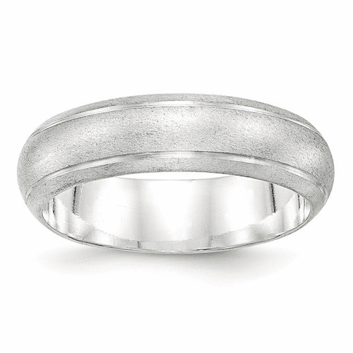 Sterling Silver 6mm Satin Finish Band Qsfb060-12