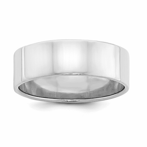 Sterling Silver 7mm Flat Band Qwfb070-8