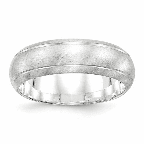Sterling Silver 7mm Satin Finish Band Qsfb070-6