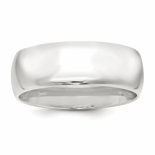 Sterling Silver 8mm Comfort Fit Band Qcf080-7.5