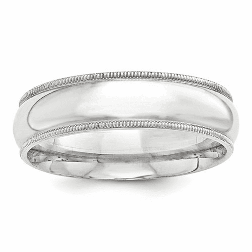 Sterling Silver 8mm Milgrain Comfort Fit Band Qcfm080-8.5