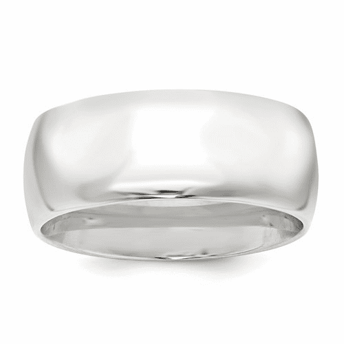 Sterling Silver 9mm Comfort Fit Band Qcf090-7.5