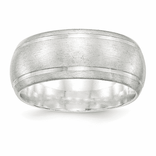 Sterling Silver 9mm Satin Finish Band Qsfb090-11