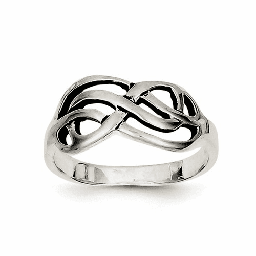 Sterling Silver Antiqued Knot Ring Qr1774-7