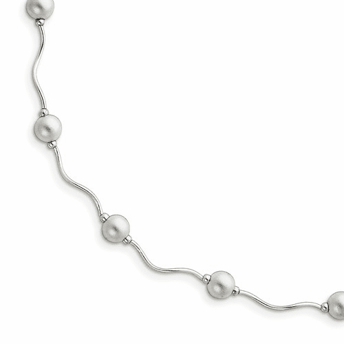 Sterling Silver Ball (Beaded) Bead and Station Necklaces