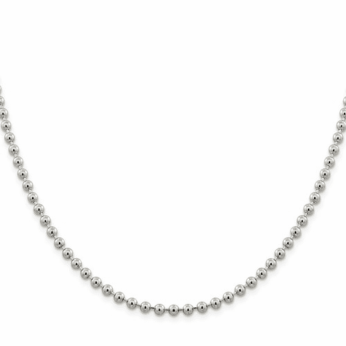 Sterling Silver Ball (Beaded) Chain
