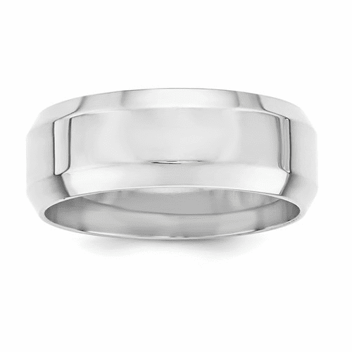 Sterling Silver Beveled Edge Comfort Fit