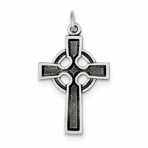Sterling Silver Celtic Cross Charm Qc450