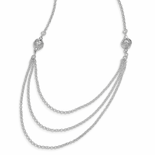 Sterling Silver Contemporary Chain Necklaces