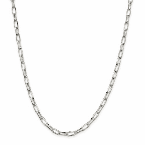 Sterling Silver D/C Open Link Cable Chain Necklaces