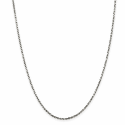 Sterling Silver D/C Rope Chain Necklaces