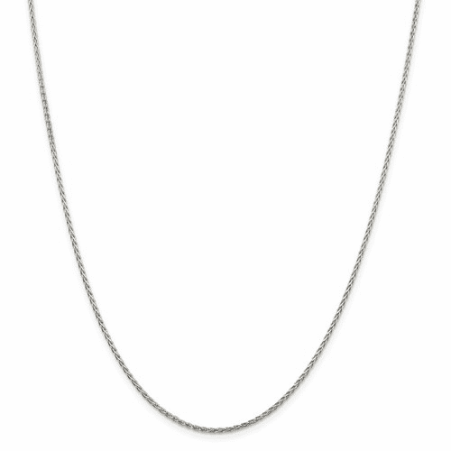 Sterling Silver D/C Spiga Wheat Chain Necklaces
