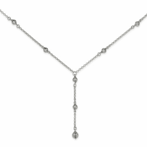 Sterling Silver Diamond Fashion Necklaces