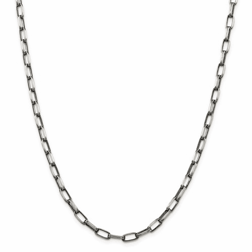 Sterling Silver Elongated Open Link Chain Necklaces