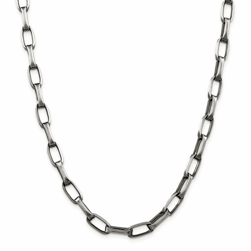 Sterling Silver Elongated Open Link Chains