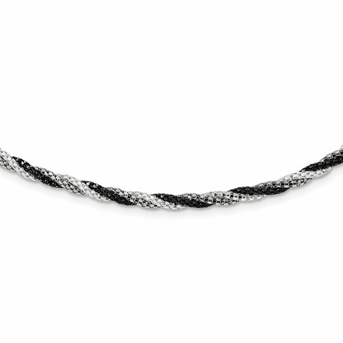 Sterling Silver Fancy 18 Necklace Qh4911-18