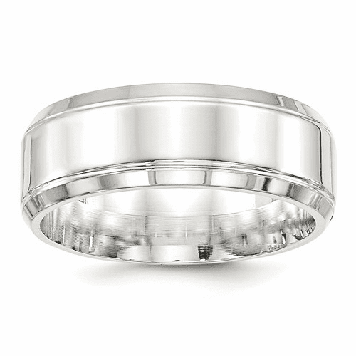 Sterling Silver Fancy Classic Bands with Beveled Edge