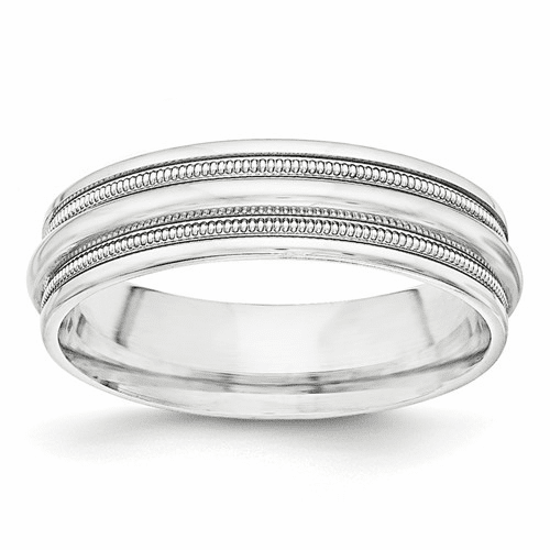 Sterling Silver Fancy Classic Milgrain Bands